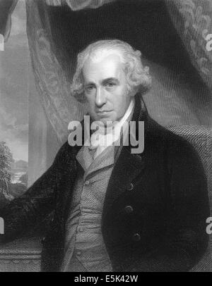 James Watt, 1736 - 1819, Scottish inventor of the steam engine, - Stock Photo