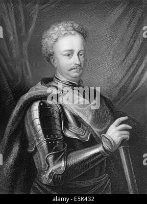 Portrait of John III Sobieski 1629 - 1696, monarch of the Polish–Lithuanian Commonwealth, King of Poland - Stock Photo