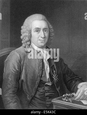 Carl Linnaeus,  or Carl von Linné, 1707-1778, a Swedish botanist, physician, and zoologist, - Stock Photo