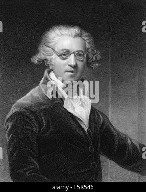 Sir Joshua Reynolds, 1723 - 1792, an English painter, - Stock Photo