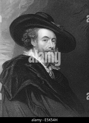 Sir Peter Paul Rubens, 1577-1640, a Flemish Baroque painter, - Stock Photo