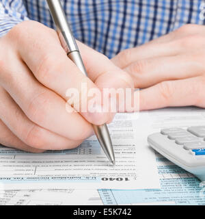 Filling out Tax Form Stock Photo, Royalty Free Image: 10900285 - Alamy