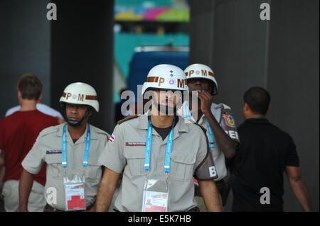 Militärpolizei, Arena Fonte Nova, WM 2014, Salvador da Bahia, Brasilien. Editorial use only. - Stock Photo