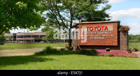 ANN ARBOR, MI - JULY 24: The Toyota Technical Center in Ann Arbor, MI, shown here on July 24, 2014, will expand - Stock Photo