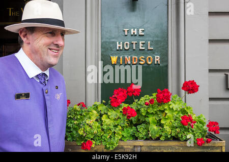 Australia, Victoria, Melbourne, Central business, District, CBD, Spring Street, The Windsor, hotel hotels lodging - Stock Photo