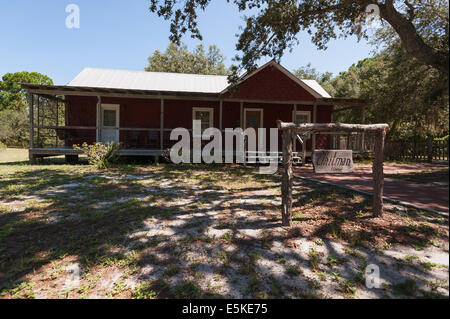 Historic Whitman home located the Cedar Key Museum State Park, Florida USA - Stock Photo