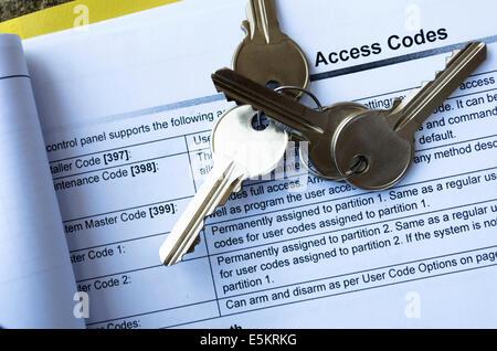 Four Keys On Access Code List - Stock Photo
