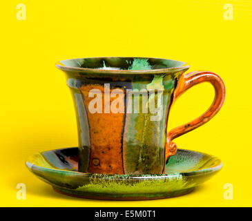 Coffee or tea mug isolated on background - Stock Photo