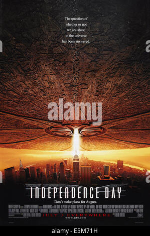 INDEPENDENCE DAY, US advance poster art, 1996.  TM and Copyright ©20th Century Fox Film Corp. All rights reserved/ - Stock Photo