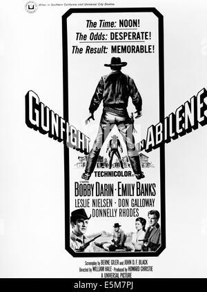 GUNFIGHT IN ABILENE, bottom from left: Bobby Darin (twice), Emily Banks, Leslie Nielsen, 1967 - Stock Photo