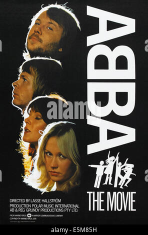 ABBA: THE MOVIE, US poster, from top to bottom: Benny Andersson, Bjorn Ulvaeus, Anni-Frid Lyngstad, Agnetha Faltskog, - Stock Photo
