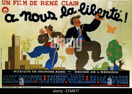A NOUS LA LIBERTE!, (aka LIBERTY FOR US), poster, 1931 - Stock Photo