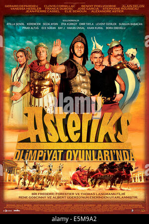 ASTERIX AT THE OLYMPIC GAMES, (aka ASTERIX AUX JEUX OLYMPIQUES), Vanessa Hessler, Alain Delon as Julius Caesar, - Stock Photo