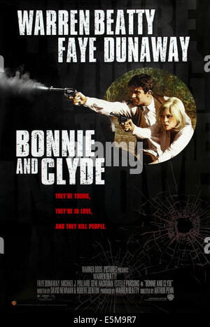 BONNIE AND CLYDE, from left: Warren Beatty, Faye Dunaway, 1967 - Stock Photo