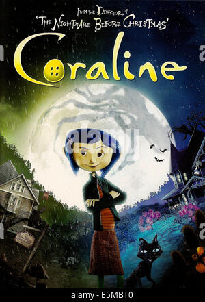 CORALINE, Coraline (voice: Dakota Fanning), 2009. ©Focus Features/Courtesy Everett Collection - Stock Photo