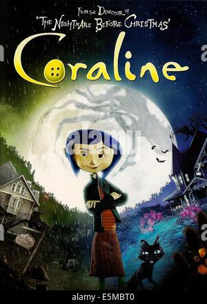 CORALINE, Coraline (voice: Dakota Fanning), 2009. ©Focus Features/Courtesy Everett Collection - Stock Photo