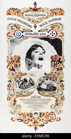 DARLING LILI, US poster, Julie Andrews (center), bottom from left: Rock Hudson, Julie Andrews, Rock Hudson, 1970 - Stock Photo