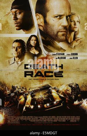 DEATH RACE, US poster art, clockwise from top left: Tyrese Gibson, Jason Statham, Joan Allen, Natalie Martinez, - Stock Photo