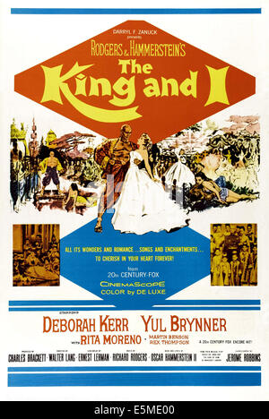 THE KING AND I, from left: Yul Brynner, Deborah Kerr, 1956. ©20th Century-Fox Film Corporation, TM & Copyright/courtesy - Stock Photo