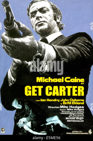 GET CARTER, Michael Caine, 1971 - Stock Photo