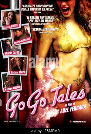 GO GO TALES, Italian poster art, from top: Asia Argento, Riccardo Scamarcio, Willem Dafoe, Stefania Rocca, Matthew - Stock Photo