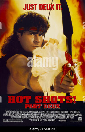 HOT SHOTS! PART DEUX, Charlie Sheen on poster art, 1993, TM and Copyright ©20th Century Fox Film Corp. All rights - Stock Photo