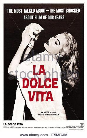 LA DOLCE VITA, Anita Ekberg, 1960 - Stock Photo
