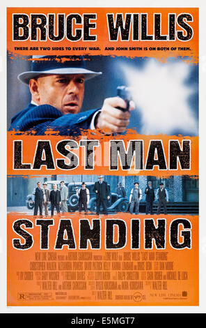 LAST MAN STANDING, Bruce Willis on poster art, 1996, ©New Line Cinema/courtesy Everett Collection - Stock Photo