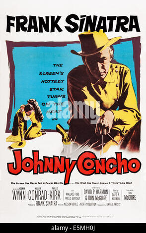JOHNNY CONCHO, US poster, Frank Sinatra, 1956 - Stock Photo