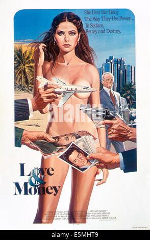 LOVE AND MONEY, Ornella Muti (front), Klaus Kinski, 1982, © Paramount/courtesy Everett Collection - Stock Photo