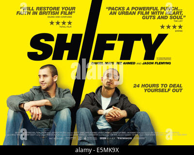 SHIFTY, British poster art, Daniel Mays, Riz Ahmed, 2008. ©Breaking Glass Pictures/Courtesy Everett Collection - Stock Photo
