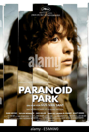 PARANOID PARK, Gabe Nevins, 2007. ©IFC Films/courtesy Everett Collection - Stock Photo