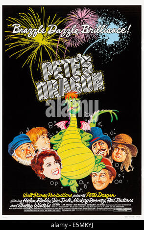 PETE'S DRAGON, US poster art, clockwise from left: Mickey Rooney, Sean Marshall, Pete the Dragon, Jim Dale, Shelley - Stock Photo