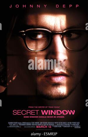 SECRET WINDOW, Johnny Depp, 2004, (c) Columbia/courtesy Everett Collection - Stock Photo