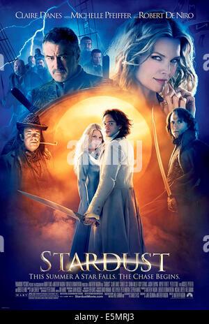 STARDUST, clockwise from lower left: Ricky Gervais, Robert DeNiro, Michelle Pfeiffer, Mark Strong, Charlie Cox, - Stock Photo