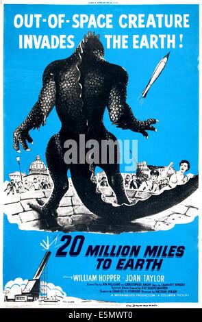 20 MILLION MILES TO EARTH, U.S. poster art, 1957 - Stock Photo
