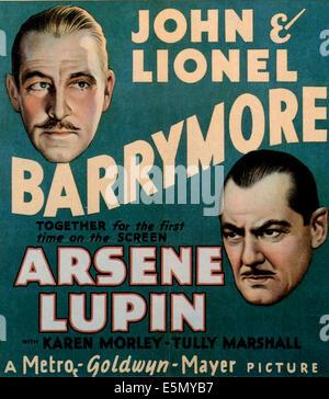 ARSENE LUPIN, from left: John Barrymore, Lionel Barrymore, 1932. - Stock Photo