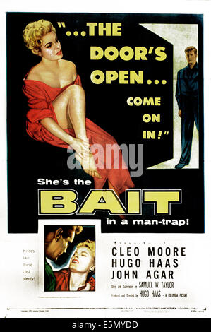 BAIT, top from left: Cleo Moore, John Agar, bottom right: Cleo Moore, 1954. - Stock Photo