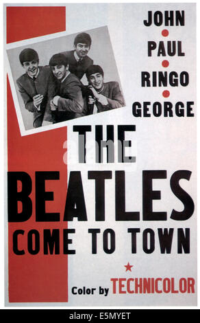 THE BEATLES COME TO TOWN, The Beatles from left: Paul McCartney, Ringo Starr, 1963. - Stock Photo