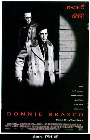 DONNIE BRASCO, Johnny Depp, Al Pacino, 1997, ©TriStar Pictures/courtesy Everett Collection - Stock Photo