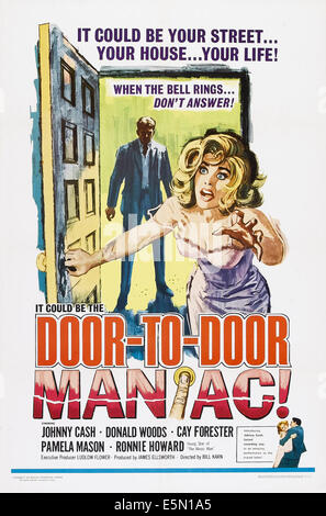 DOOR TO DOOR MANIAC, (aka FIVE MINUTES TO LIVE), US poster art, Johnny Cash, Cay Forester, 1961 - Stock Photo