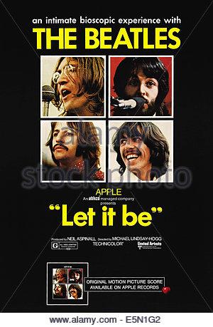 LET IT BE, The Beatles-clockwise from top left: John Lennon, Paul McCartney, George Harrison, Ringo Starr, 1970. - Stock Photo