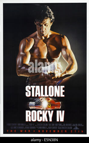 ROCKY IV, Sylvester Stallone, 1985, ©MGM/UA/courtesy Everett Collection - Stock Photo