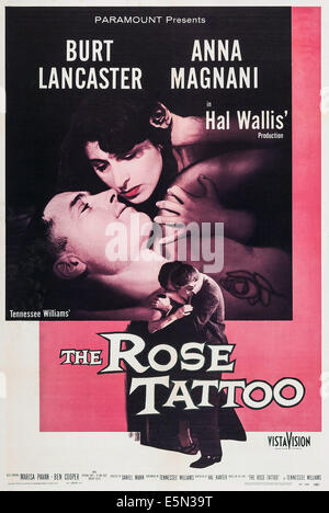THE ROSE TATTOO, top from left: Burt Lancaster, Anna Magnani, 1955. - Stock Photo