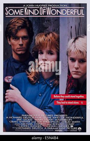 SOME KIND OF WONDERFUL, US poster art, from left: Eric Stoltz, Lea Thompson, Mary Stuart Masterson, 1987. ©Paramount - Stock Photo