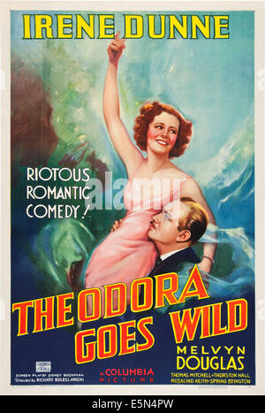 THEODORA GOES WILD, from left: Irene Dunne, Melvyn Douglas, 1936. - Stock Photo