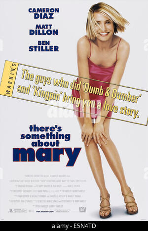 THERE'S SOMETHING ABOUT MARY, US poster art, Cameron Diaz, 1998, poster art, TM and Copyright (c)20th Century Fox - Stock Photo