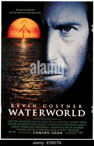 WATERWORLD, Kevin Costner, 1995, ©Universal Pictures/courtesy Everett Collection - Stock Photo