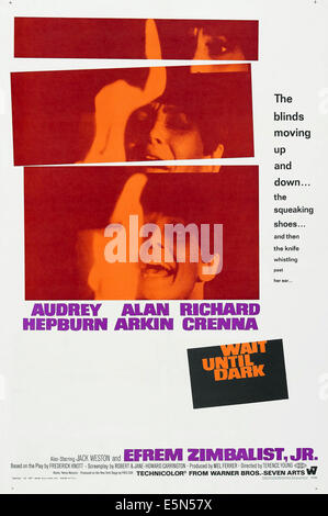 WAIT UNTIL DARK, US poster, Audrey Hepburn, 1967 - Stock Photo