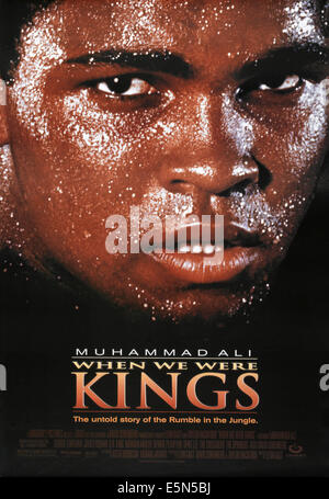 WHEN WE WERE KINGS, US poster art, Muhammad Ali, 1996, ©Gramercy Pictures/courtesy Everett Collection - Stock Photo